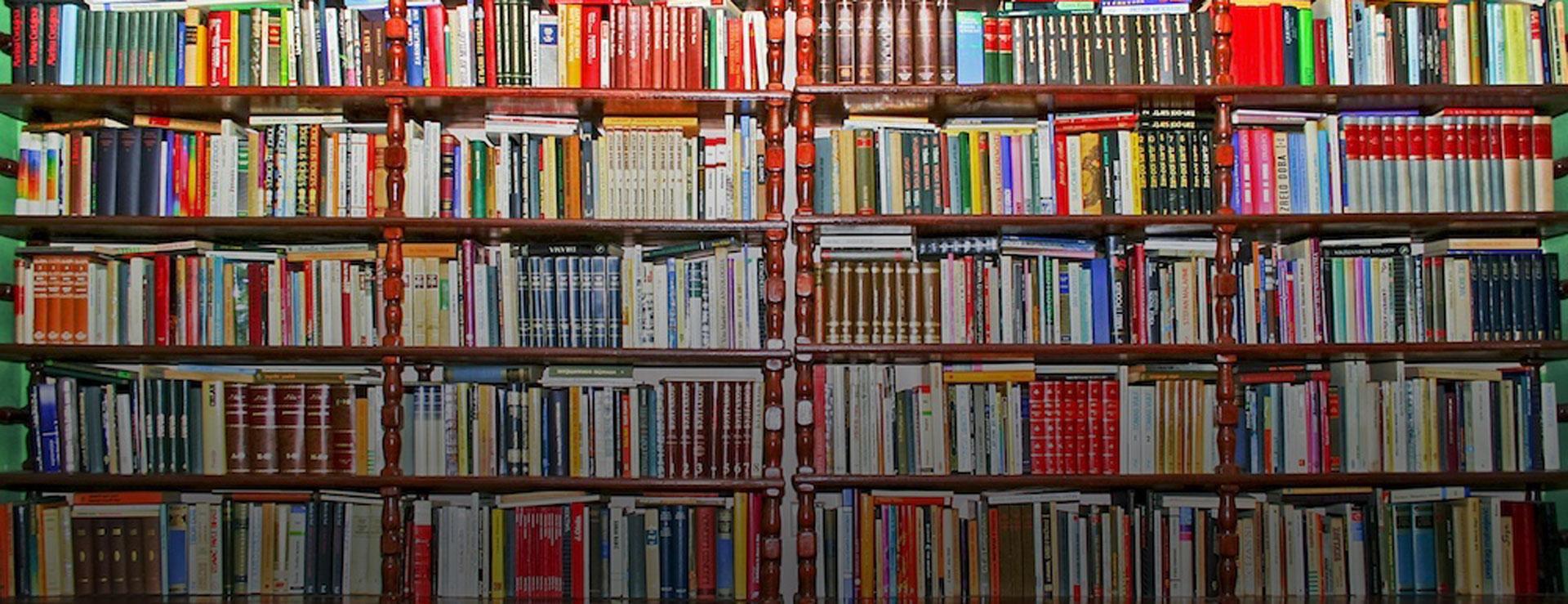Estantería con libros