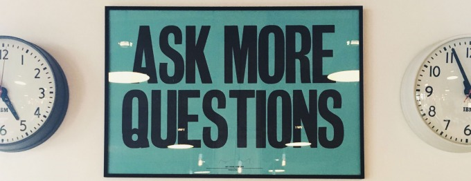 "Poster ""Ask more questions"""