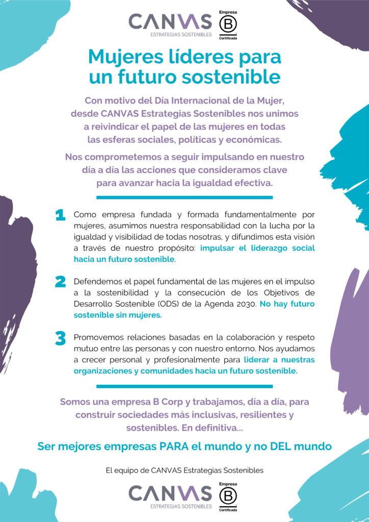 Día de la Mujer Manifiesto CANVAS
